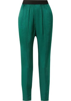 By Malene Birger Ietos Tapered Satin Pants