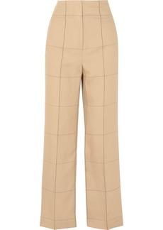 By Malene Birger Illari Checked Canvas Wide-leg Pants