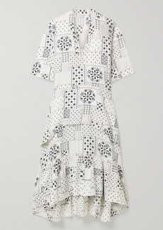 By Malene Birger Joi Tiered Printed Twill Midi Dress