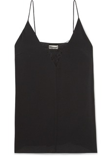 By Malene Birger Jozette Lace-trimmed Crepe Camisole