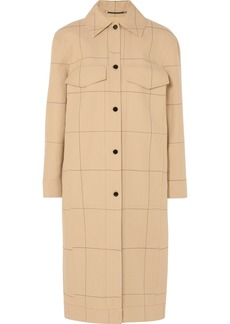 By Malene Birger Keiko checked cotton and linen-blend canvas trench coat
