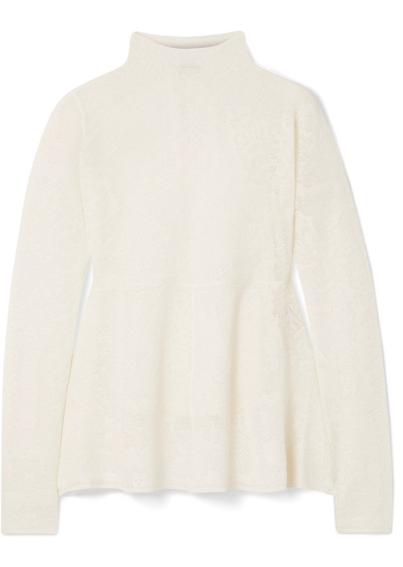 By Malene Birger Mauria Jacquard-knit Top