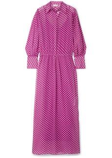 By Malene Birger Nangila Printed Cotton And Silk-blend Crepon Maxi Dress