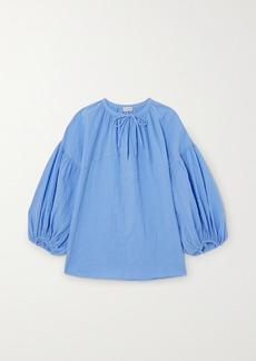 By Malene Birger Net Sustain Kyra Crinkled-organic Cotton Top
