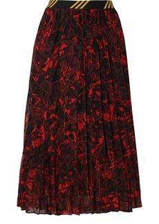 By Malene Birger Okka Pleated Printed Chiffon Midi Skirt