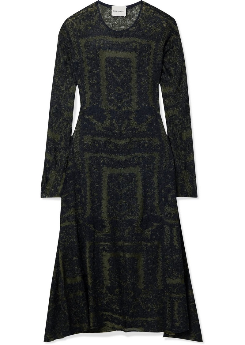 By Malene Birger Onix Jacquard-knit Midi Dress