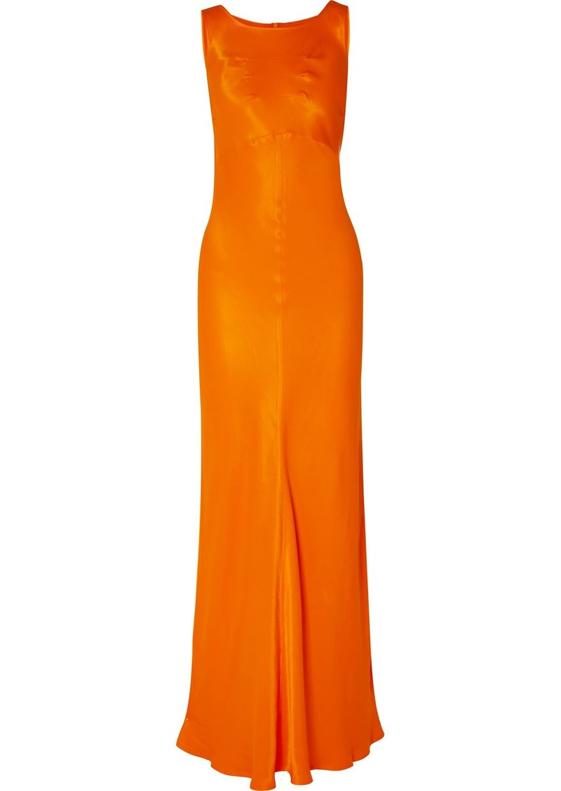 By Malene Birger Paneled Satin Maxi Dress