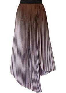 By Malene Birger Piza Dégradé Plissé Crepe De Chine Midi Skirt
