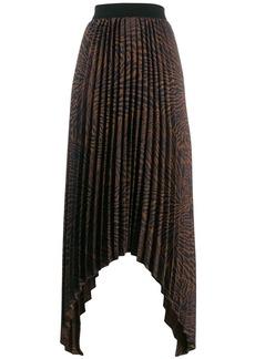 By Malene Birger pleated asymmetric skirt