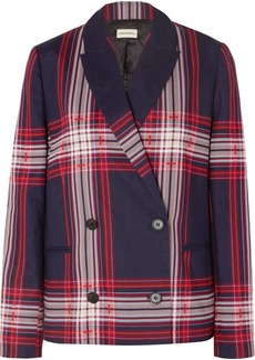 By Malene Birger Rivali Double-breasted Checked Linen And Cotton-blend Blazer