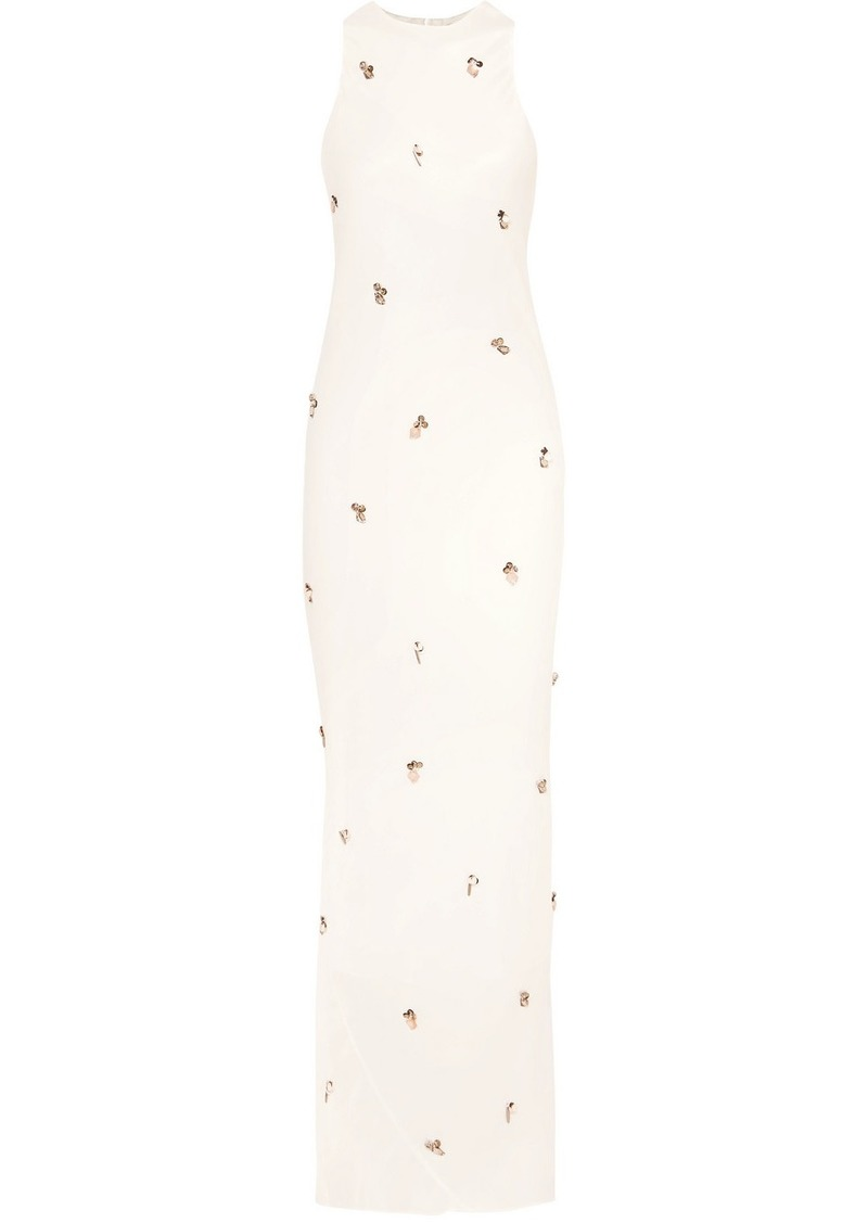 By Malene Birger Saicala Embellished Satin Maxi Dress