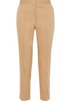 By Malene Birger Santsi Cotton-blend Poplin Tapered Pants