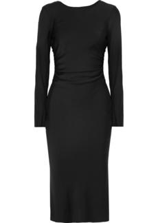 By Malene Birger Tondio Ruched Stretch-silk Satin Dress