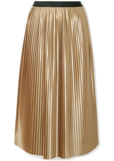 By Malene Birger Verlano pleated satin midi skirt
