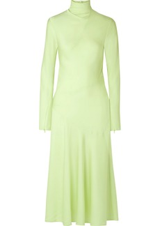 By Malene Birger Welecio Silk-blend Turtleneck Midi Dress
