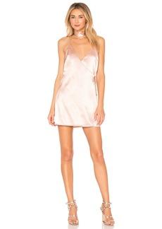 by the way. Brandy Satin Wrap Dress