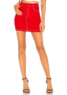 by the way. Cami Red Denim A Line Skirt