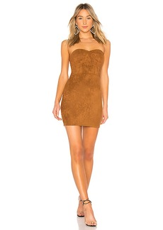 by the way. Carla Faux Suede Strapless Dress