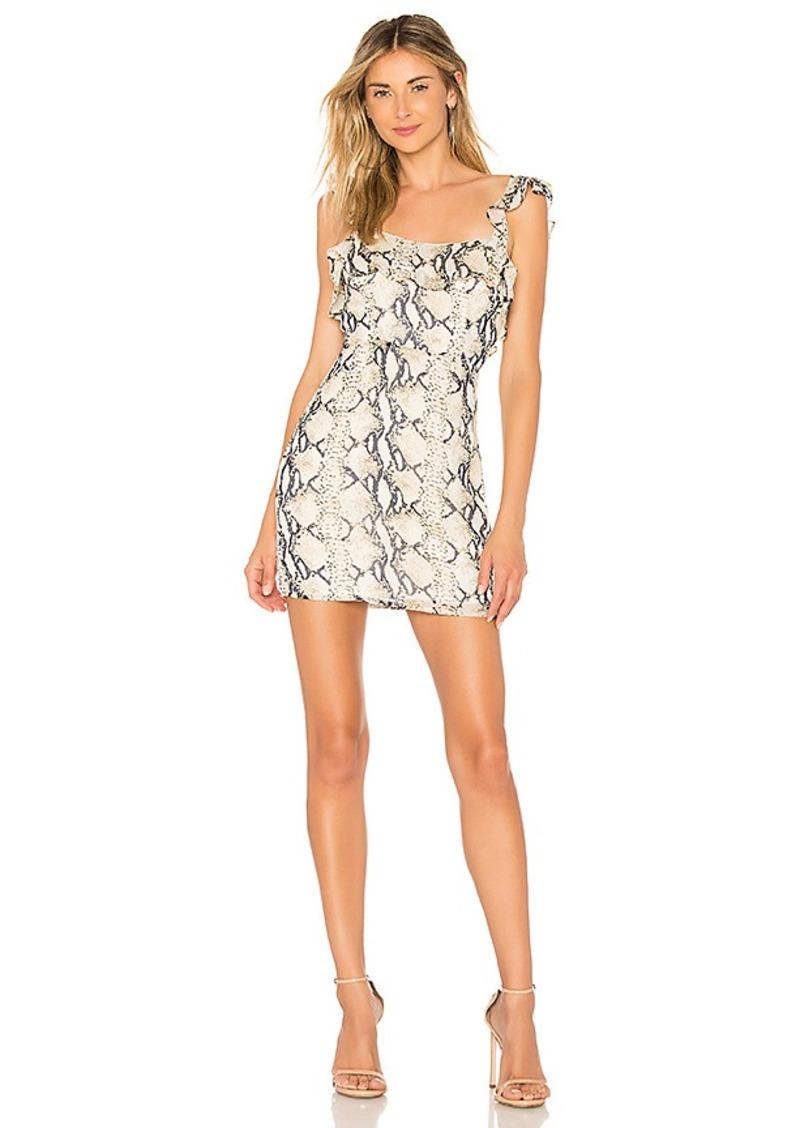 by the way. Carmina Ruffle Mini Dress
