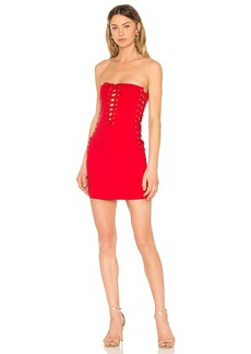 by the way. Chanel Lace Up Tube Dress