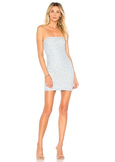 by the way. Charlize Lace Strapless Dress