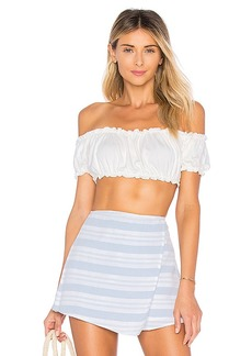 by the way. Ella Ruffle Crop Top