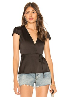by the way. Elliot Satin Wrap Top