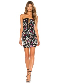 by the way. Kendrah Floral Lace Up Tube Dress