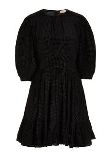 byTiMo - Women's Shiny Vintage Micro Dot Mini Dress   - Black - Moda Operandi