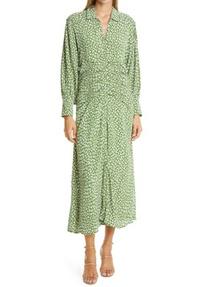 byTiMo Autumn Floral Ruched Midi Dress