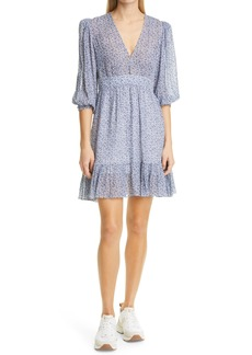 byTiMo Ditsy Floral Dobby Chiffon Fit & Flare Dress