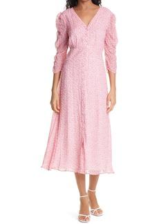 byTiMo Ditsy Floral Dobby Chiffon Midi Dress
