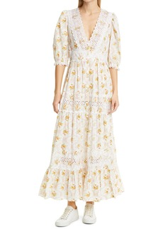 byTiMo Floral Broderie Anglaise Maxi Dress
