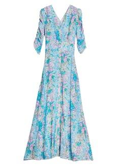 byTiMo Floral Jacquard Maxi Dress