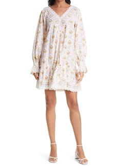 byTiMo Floral Long Sleeve Shift Minidress