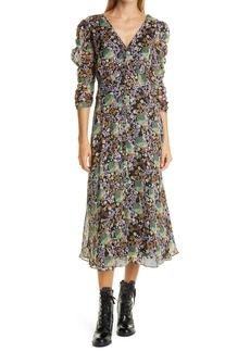 byTiMo Floral Organza Ruched Dress
