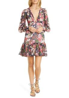 byTiMo Floral Ruffle Long Sleeve Minidress