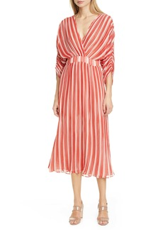 byTiMo Stripe Plissé Midi Dress