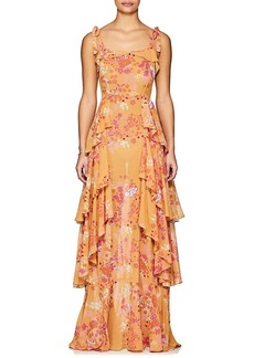 byTiMo Women's Floral Cotton-Blend Voile Gown