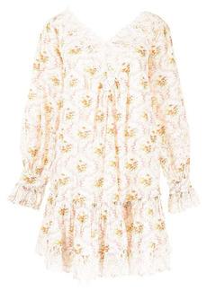 byTiMo floral-print V-neck mini dress