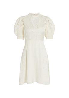 byTiMo Jacquard Lace Puff-Sleeve Mini Dress