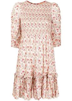 byTiMo shirred floral-print dress
