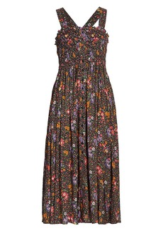 byTiMo Smocked Button-Front Midi Dress