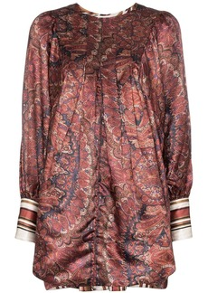 byTiMo Vintage paisley print satin mini dress