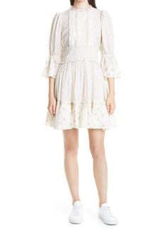 Women's Bytimo Bohemian Mixed Florals & Lace Minidress