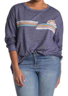 C & C California Burnwash Poppy Graphic Pullover