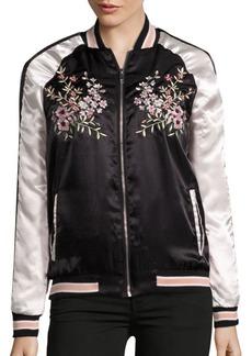 C & C California Embroidered Bomber Jacket