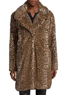 C & C California Faux Fur Cheetah Coat