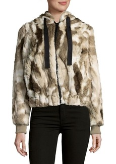 C&C California Faux Fur Hooded Coat