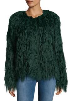 C & C California C&C California Faux-Fur Shaggy Jacket
